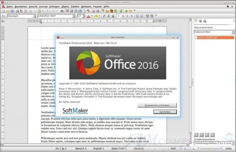 SoftMaker Office Professional 2016 Download Gratis