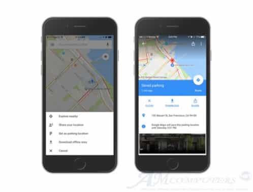 Google Maps permette di ricordare dove abbiamo parcheggiato auto