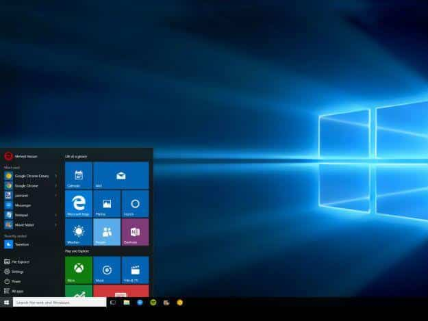 Menu Start di Windows 10 non si apre non funziona