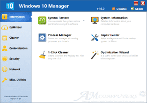 Yamicsoft Windows 10 Manager AMCOMPUTERS