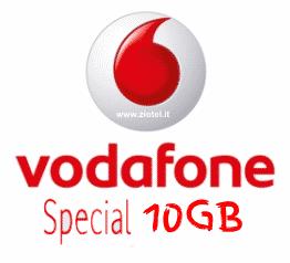 Vodafone offre 1000 minuti 1000 SMS e 10GB a 7€