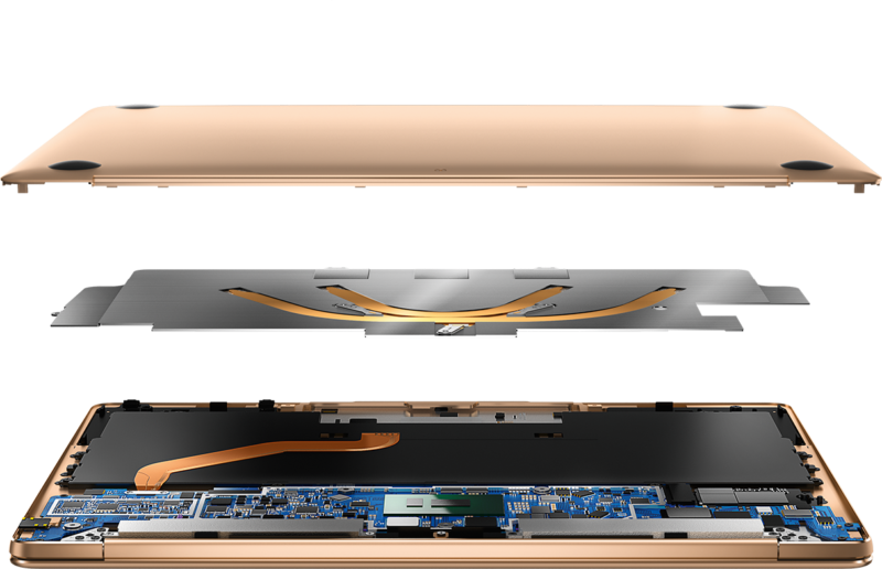 Huawei MateBook X portatile piu piccolo di un foglio a4