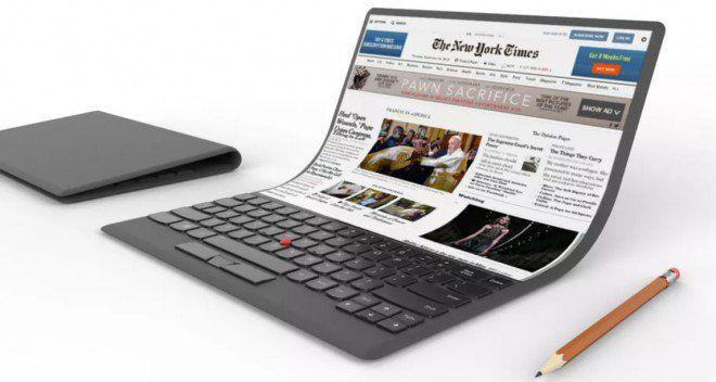 Lenovo mostra il PC portatile con schermo flessibile