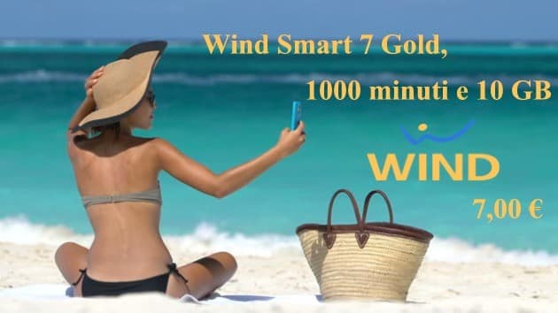 Wind Smart 7 Gold 1000 minuti e 10 GB