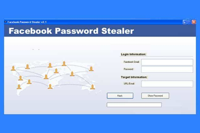 Facebook Password Stealer software per rubare le password Facebook