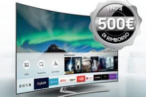 Samsung rimborsa fino a 500 Euro per acquisto TV