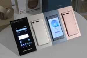 Sony XZ1 e XZ1 Compact smartphone con Android Oreo