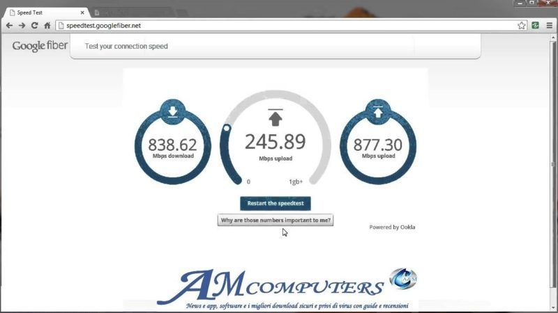 Speed test Google misurazione velocita di Internet