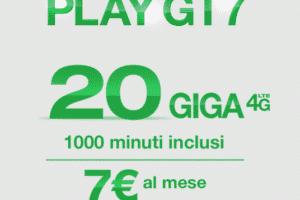 Tre Italia Play Gt7 20 GB e 1000 minuti