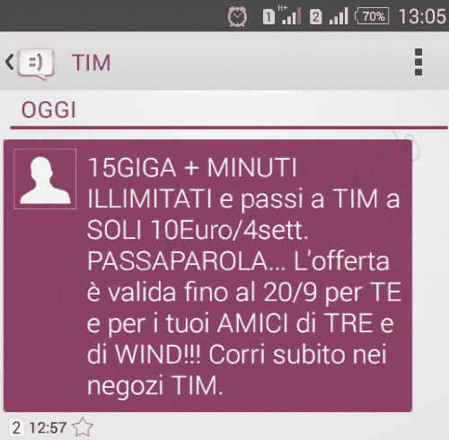 TIM Ten GO traffico dati 15GB ma sempre 10 euro