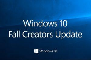 Windows 10 1709 Fall Creators Update disponibile