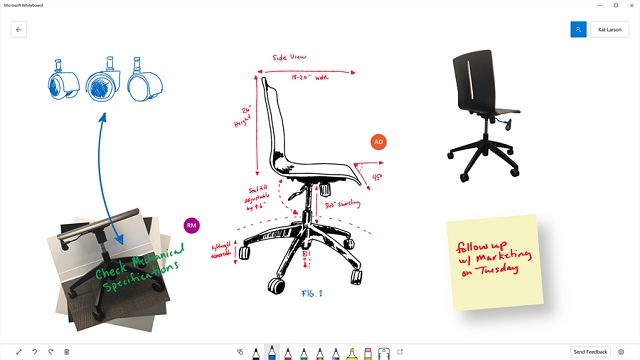 Whiteboard arriva su Windows 10 app collaborativa di Microsoft