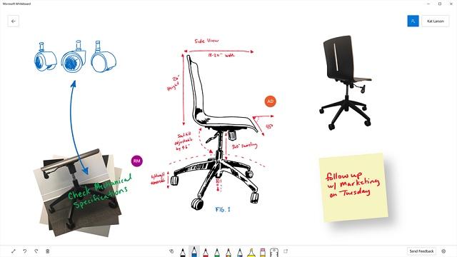 Whiteboard arriva su Windows 10 app collaborativa di Microsoft
