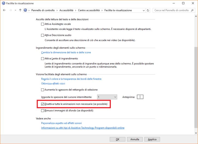Come velocizzare Windows 10 disabilitando alcune funzionalita