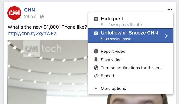 Facebook il nuovo tasto per silenziare gli amici fastidiosi