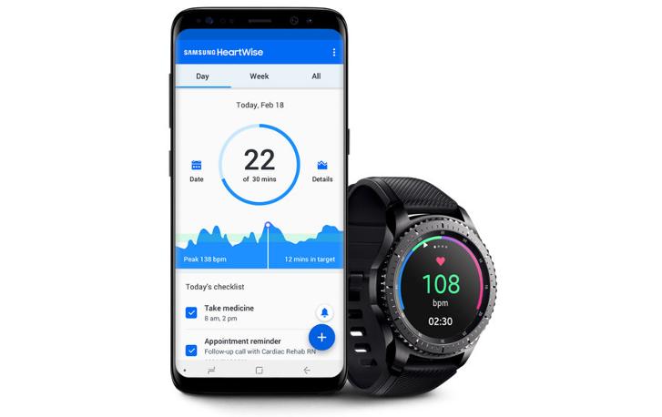 Samsung HeartWise app che aiuta i pazienti malati di cuore
