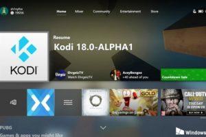 Kodi disponibile nello store di Microsoft per Xbox One