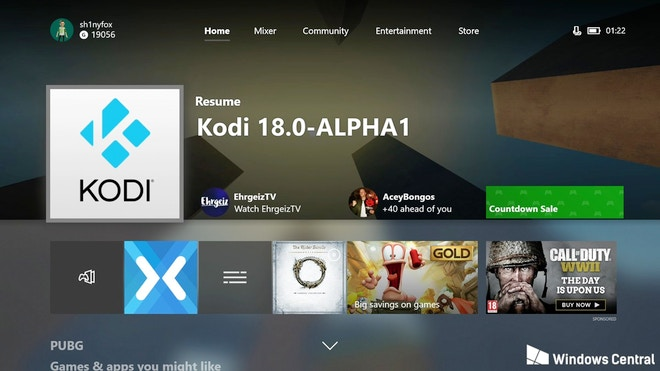 Kodi disponibile nello store di Microsoft per Xbox One