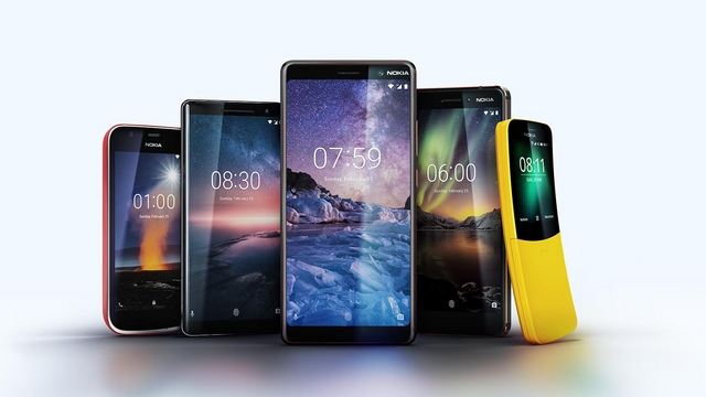 Gli smartphone Nokia presentati al Mobile World Congress 2018