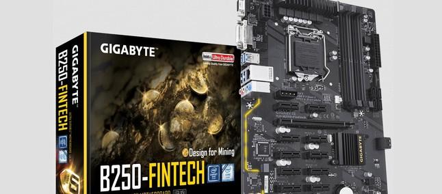 Gigabyte B250-FinTech scheda madre per il mining