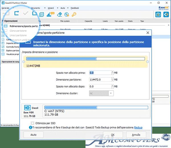 EaseUS Partition Master il software per partizionare il tuo disco