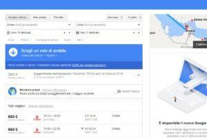 Cercare un volo con Google Flights batte siti di ricerca