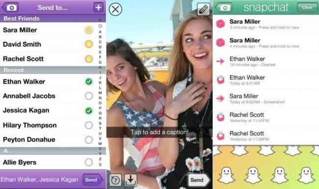 Snapchat una applicazione che permette di scambiarsi foto e video