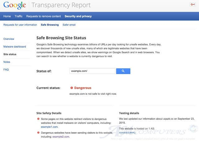 Google Safe Browsing il tool per la sicurezza in Rete