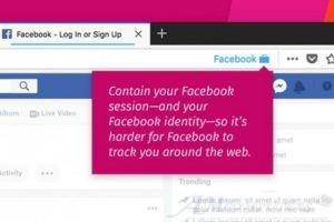 Firefox risolve il problema del tracciamento dei dati di Fecebook