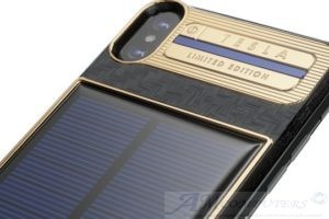 iPhone X Tesla lo smartphone a energia solare
