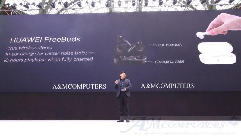 Huawei FreeBuds come AirPods ma la batteria dura il doppio