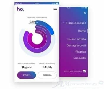 HO Mobile la portabilità del numero si effettua tramite App