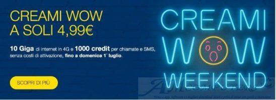 Effetto Iliad PosteMobile Creami Wow Weekend a 5 euro