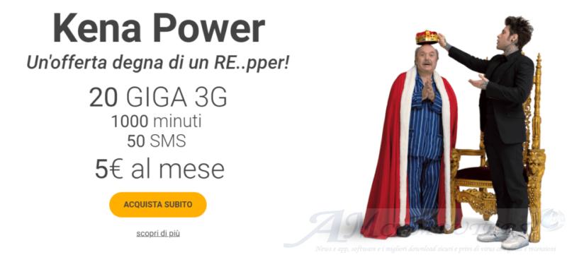 Kena Power 1000 minuti 50 SMS e 20 GB