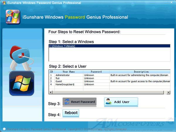 Windows Password Genius tool per recuperare le password di Windows