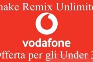 Vodafone lancia Shake Remix Unlimited offerta per gli Under 30