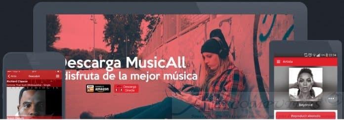 MusicAll applicazione Android alternativa Gratuita a Sportify