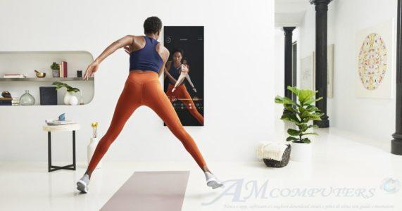 Mirror specchio Smart che diventa un personal trainer