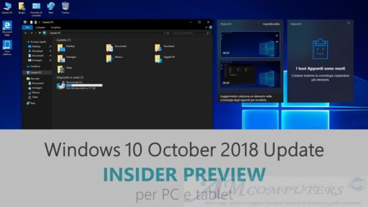 Windows 10 October 2018 Update Insider Preview Build 17744