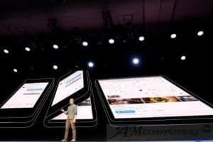 Samsung lo smartphone pieghevole con comandi vocali