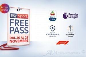Sky Sport Free Pass gratis sul digitale terrestre
