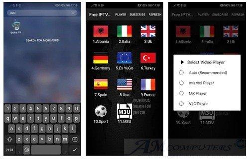 Evolve TV App per Android per IPTV