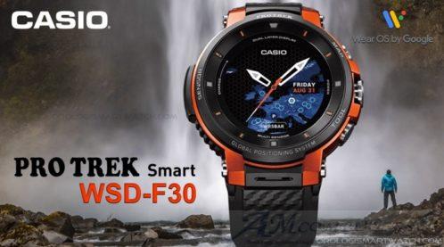 Casio Pro Trek Smart WSD-F30 smartwatch basato su Google Wear OS