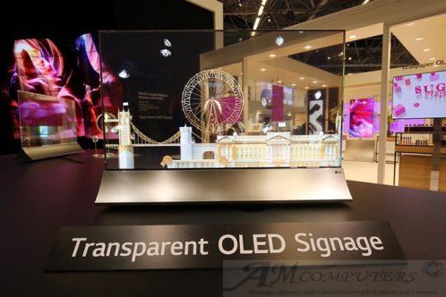 LG Transparent OLED Signage presentazione a ISE 2019