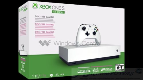 Xbox One S All Digital ufficiale la nuova console di Microsoft