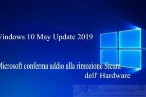 Microsoft conferma addio alla rimozione Sicura