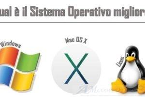 Il miglior Sistema Operativo tra Windows Mac e Linux