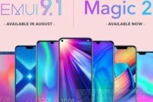 Smartphone Huawei che riceveranno la EMUI 9.1