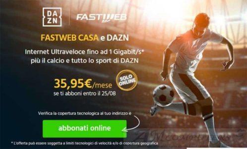 Fastweb e DAZN Naviga Ultraveloce e guarda il Calcio