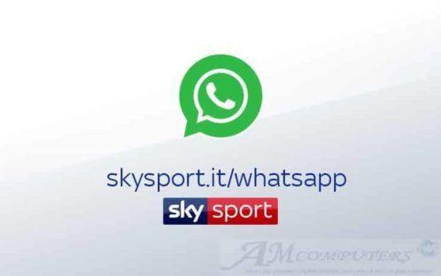 Le news di Sky Sport direttamente su WhatsApp